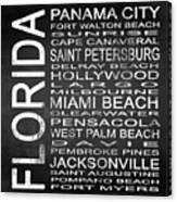 Subway Florida State Square Canvas Print
