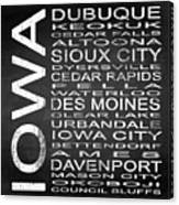 Subway Iowa State Square Canvas Print