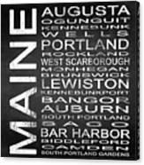 Subway Maine State Square Canvas Print