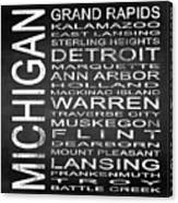 Subway Michigan State Square Canvas Print