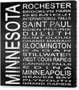 Subway Minnesota State Square Canvas Print