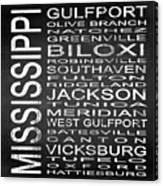 Subway Mississippi State Square Canvas Print
