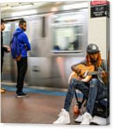 Subway Musician 6 Canvas Print