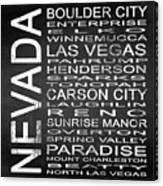 Subway Nevada State Square Canvas Print