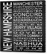 Subway New Hampshire State Square Canvas Print