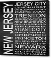 Subway New Jersey State Square Canvas Print