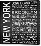 Subway New York State 3 Square Canvas Print