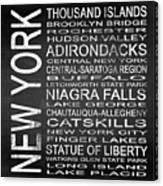 Subway New York State 4 Square Canvas Print