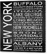 Subway New York State Square Canvas Print