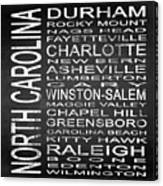 Subway North Carolina State Square Canvas Print