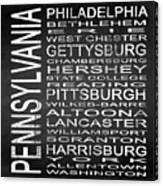 Subway Pennsylvania State Square Canvas Print