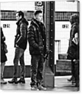Subway Platform At 125th Street Canvas Print