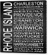 Subway Rhode Island State Square Canvas Print