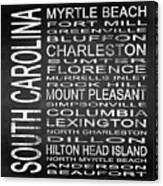 Subway South Carolina State Square Canvas Print