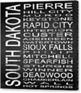 Subway South Dakota State Square Canvas Print