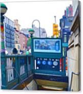 Subway Station Entrance 2 Canvas Print