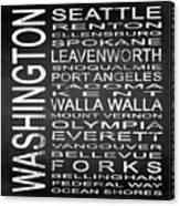 Subway Washington State Square Canvas Print