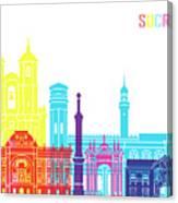 Sucre Skyline Pop Canvas Print