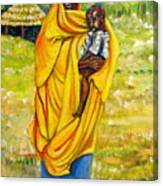 Sudanese Mother And Child Canvas Print