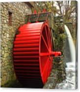 Sudbury Grist Mill Water Wheel Canvas Print