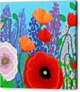 Sue's Flower Bed Canvas Print