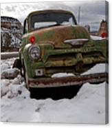 Suffering The Snow Canvas Print