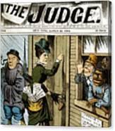 Suffrage Cartoon, 1884 Canvas Print