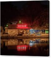 Suisan Fish Market At Night Canvas Print
