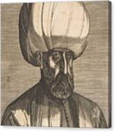 Suleyman The Magnificent , Engraved By Melchior Lorck Canvas Print