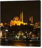 Suleymaniye At Night Canvas Print