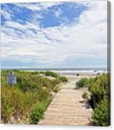 Sullivans Island Beach Entrance Two Canvas Print
