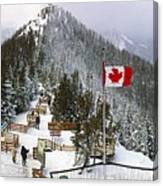 Sulphur Mountain In Banff National Park In The Canadian Rocky Mountains Canvas Print