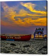 Summer Sunset In Cape May Nj Canvas Print