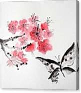 Sumi -e Butterfly Canvas Print