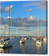 Summer Afternoon At Rockport Harbor Canvas Print
