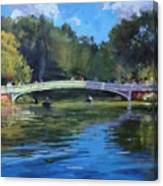 Summer Afternoon On The Lake, Central Park Canvas Print