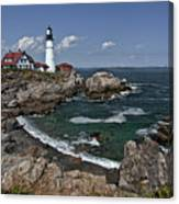 Summer Afternoon, Portland Headlight Canvas Print