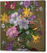 Summer Arrangement In A Glass Vase Canvas Print