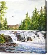 Summer At Buttermilk Falls Canvas Print