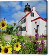 Summer At East Point Light Canvas Print
