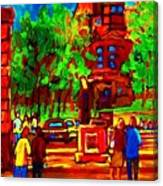 Summer At Mcgill University Canvas Print