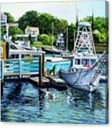 Summer At The Madfish Wharf Canvas Print