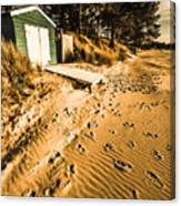 Summer Beach Shacks Canvas Print