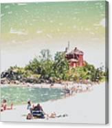 Summer Beach Sunshine Canvas Print