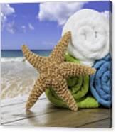 Summer Beach Towels Canvas Print