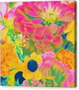 Summer Blossoms - Pop Art Canvas Print