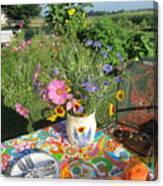 Summer Breakfast In The Garden Canvas Print