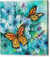 Summer Butterflies Canvas Print