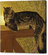 Summer Cat On A Balustrade Canvas Print