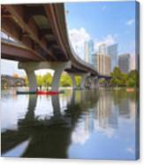 Summer Day At Lady Bird Lake In Austin Texas 1 Canvas Print